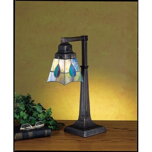 Meyda Tiffany 27637 Stained Glass / Tiffany Accent Desk Lamp from the Mackintosh Bungalow Collection