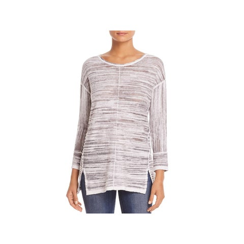 Nic + Zoe Womens Pullover Top Heathered Knit - XL