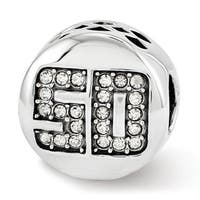 Sterling Silver Reflections Swarovski Elements Fantastic 50 Bead (4mm Diameter Hole)