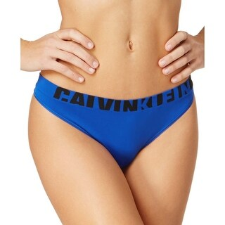 Calvin Klein Womens Royal Blue Seamless Logo Thong