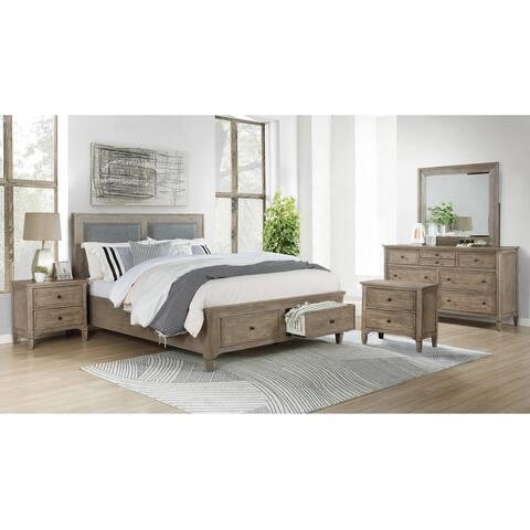Furniture of America Banister Transitional Grey 5-piece Bedroom Set