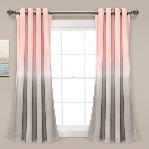 Lush Decor Ombre Fiesta Room Darkening Window Curtain Panel Pair