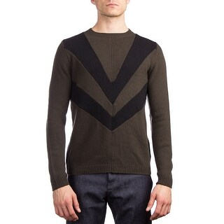 Prada Men's Wool Cashmere Crewneck Sweater Green