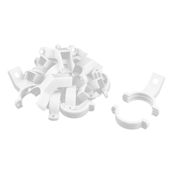 Plastic Single Dish LNB Bracket Holder Mount 40mm Dia White 10 Pcs for Ku Band