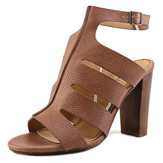 Splendid Jamey Women Open-Toe Leather Brown Slingback Sandal