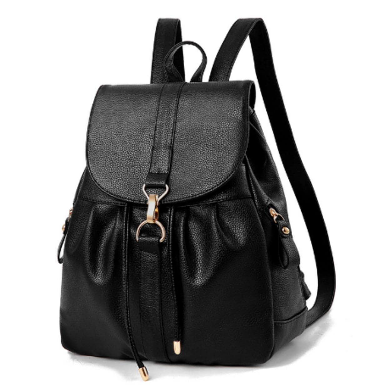 3pcs Women PU Leather Backpack School Bag Shoulder Bag Card Holder Purse K1B