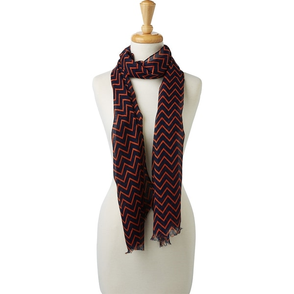 Tickled Pink Double Stripe Chevron Scarf. Opens flyout.