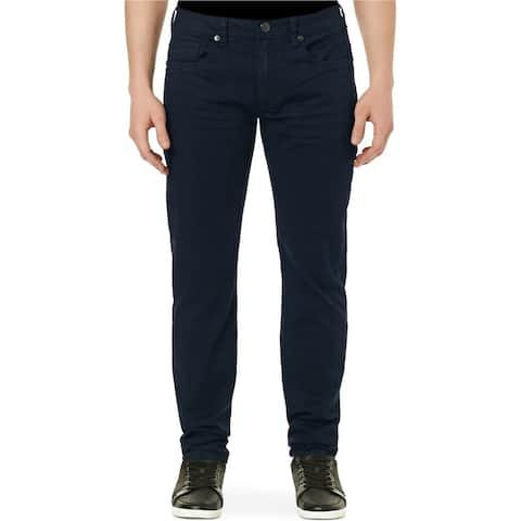 Buffalo David Bitton Mens Slim Straight Leg Jeans, Blue, 40W x 30L