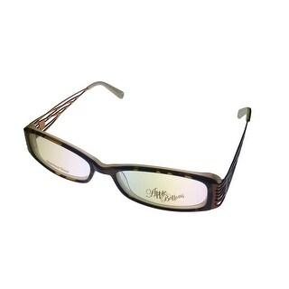 Apple Bottoms Womens Opthalmic Eyeglass Rectangle Plastic 714 2 Demi - Medium