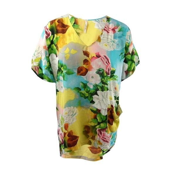 763b52b61 Shop Melissa McCarthy Seven7 Women's Plus Size High-Low Tunic (2X, Enrose  Multi) - enrose multi - Free Shipping On Orders Over $45 - Overstock -  20731679