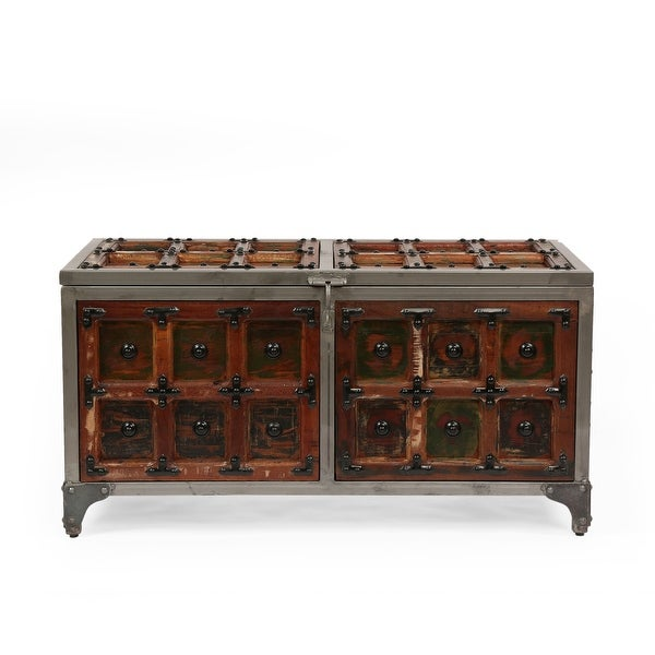 Burtnett Indoor Wood Handcrafted Storage Trunk by Christopher Knight Home. Opens flyout.