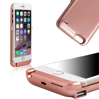 Indigi® 10000mAh PowerCase ROSE GOLD Rechargeable Battery Case iPhone 6/6S