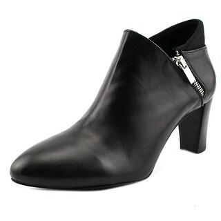 Alfani Errane Women Round Toe Leather Bootie