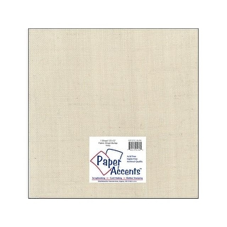 Fabric Sheet 12x12 Burlap Ivory 1pc