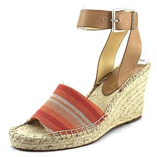 Ivanka Trump Dalinda Open Toe Leather Wedge Sandal