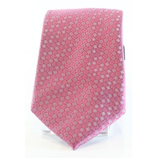 Kenneth Cole Reaction NEW Pink Mens One Size Micro Pattern Silk Neck Tie