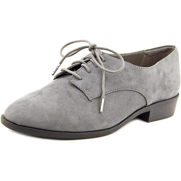 Bar III Gelsey Women Grey Oxfords
