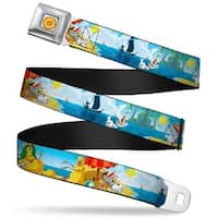 Frozen Sun Full Color Blue Yellows Olaf Summertime Scenes Webbing Seatbelt Seatbelt Belt