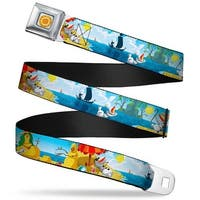 Frozen Sun Full Color Blue Yellows Olaf Summertime Scenes Webbing Seatbelt Seatbelt Belt Standard