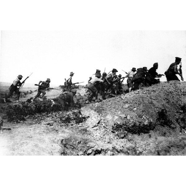 00985e7618b0d Shop Australian World War I Troops Charging Near A Turkish Trench When They  Got There History - Free Shipping On Orders Over  45 - Overstock.com -  24359915