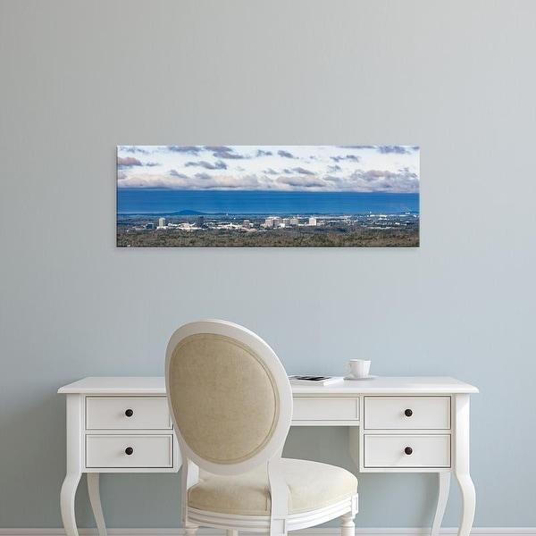 Easy Art Prints Panoramic Images's 'View of buildings, Vinings, Atlanta, Fulton County, Georgia' Premium Canvas Art