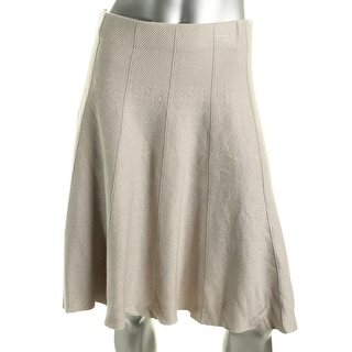 Nic+Zoe Womens A-Line Vertical Piping Flare Skirt - S