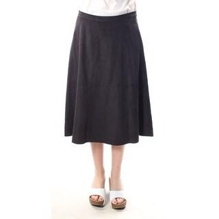 $119 VINCE CAMUTO New Womens 1359 Black A-Line Skirt 6 B+B
