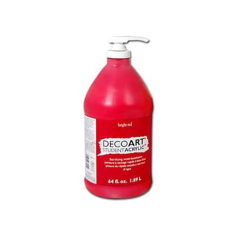 Deco art stu0667 student acrylic 1/2 gallon deep red