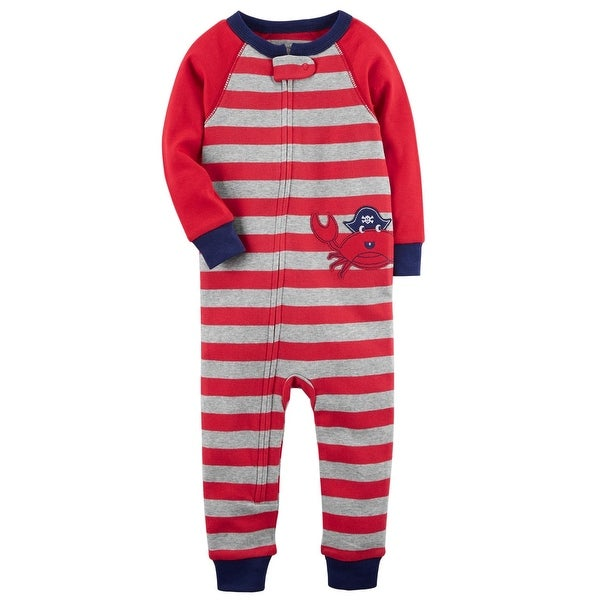 ab2af69f3 Shop Carter s Baby Boys  1-Piece Crab Snug Fit Cotton Footless PJs ...