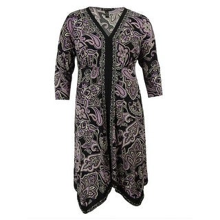 INC International Concepts Women's Paisley 3/4 Sleeve Dress - 3x