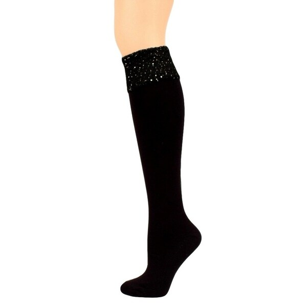 Blazin Roxx Womens Knee High Fashion Sequined Band Black