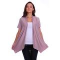 Simply Ravishing Women's Basic Short Sleeve Open Cardigan (Size: Small-5X) - Thumbnail 6