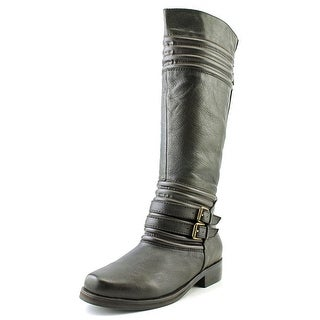 Two Lips Jellied Round Toe Leather Knee High Boot