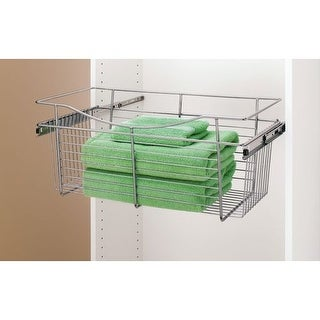 Rev-A-Shelf CB-241211 CB Series 24 x 12 x 11 Inch Wire Pull-Out Closet Basket