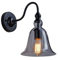 Retro Bell Glass Shade Wall Sconce, Up and Down