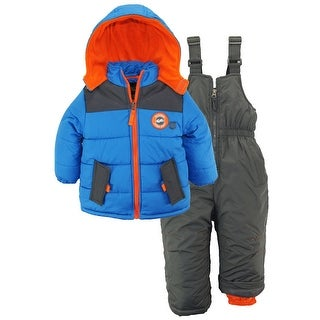 iXtreme Little Boys' Toddler Colorblock With Canvas Yoke Snowsuit