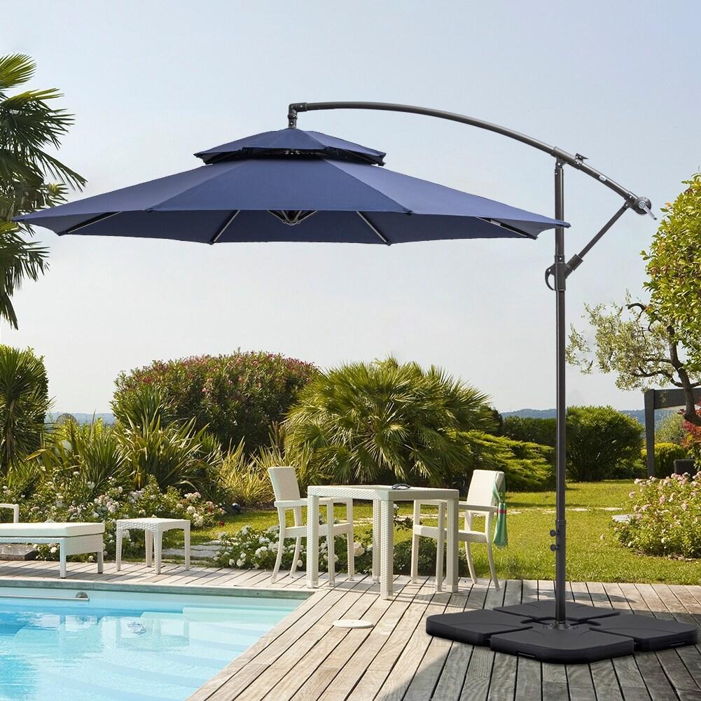 Ft Double Top Patio Cantilever Umbrella