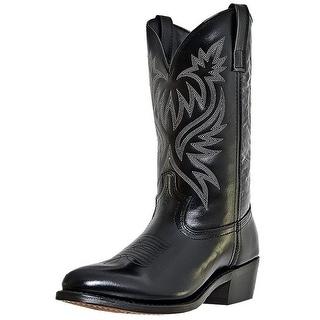 Laredo Western Boots Mens London Stitched Round Toe Black 4210