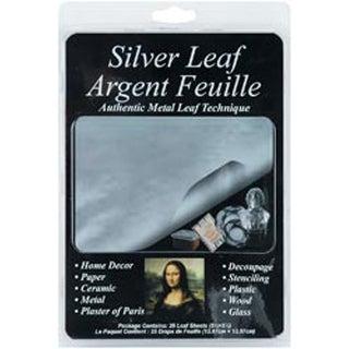 "Silver - Mona Lisa Metal Leaf Sheets 5.5""X5.5"" 25/Pkg"