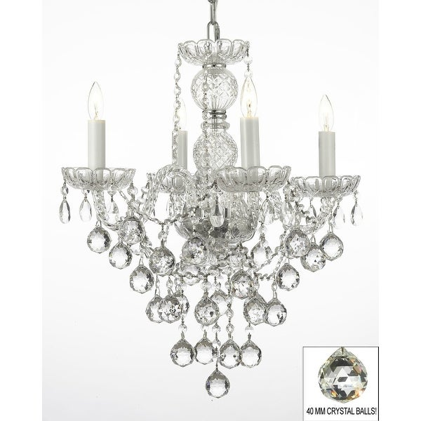 New Authentic All Crystal Chandelier Lighting With 40 mm Crystal Balls