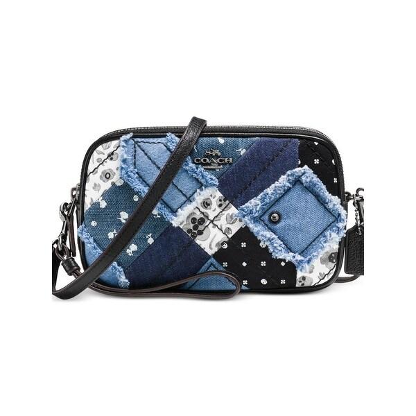 6f04aededb56 Shop Coach Womens Wristlet Handbag Leather Trim Denim - small - Free  Shipping Today - Overstock - 20865720