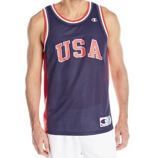 Champion NEW Blue Mens Size 2XL City Mesh Basketball Jersey Tank Top