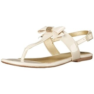 Vince Camuto Girls Patent T-Strap Thong Sandals - 3