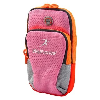 Wellhouse Authorized Phone Holder Adjustable Running Sports Arm Bag Pink L