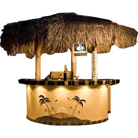 KoKoMo Grills Tahiti 2 Piece 8' Island With 8' Bar Outdoor BBQ Kitchen