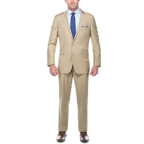Men's Two Piece Suit Slim-Fit Notch Lapel Dress Suit for Men