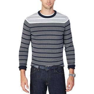 Nautica Mens Pullover Sweater Color Block Long Sleeves