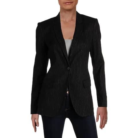 Kobi Halperin Womens Revi One-Button Blazer Linen Pinstripe