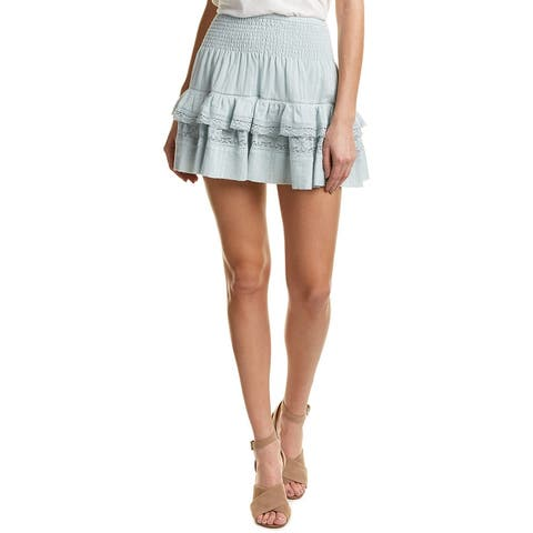 Rebecca Taylor Gauze A-Line Skirt
