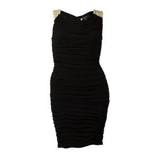 Jessica Howard Women's V-neck Surplice A-line Dress